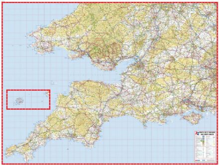 A-Z South West England and South Wales Road Map